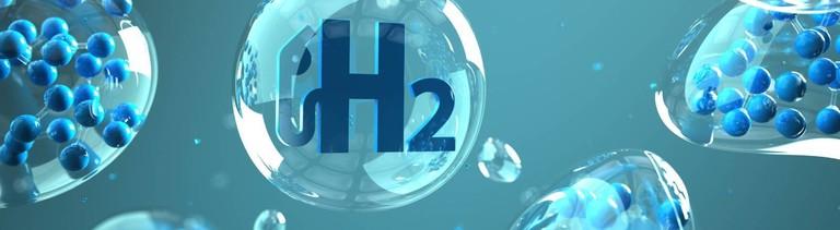 Symbolbild von Wasserstoffmolekülen