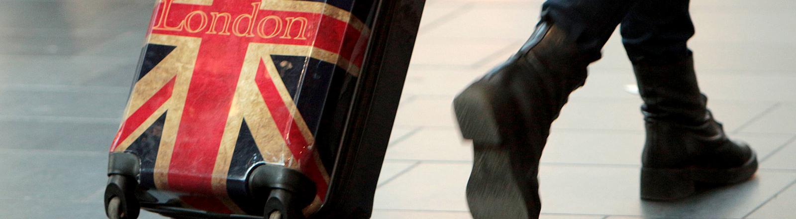 Koffer mit Union Jack