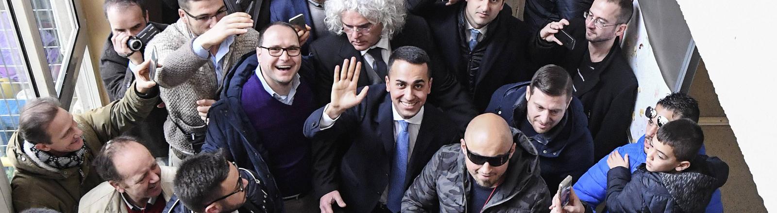Stimmabgabe von Luigi di Maio