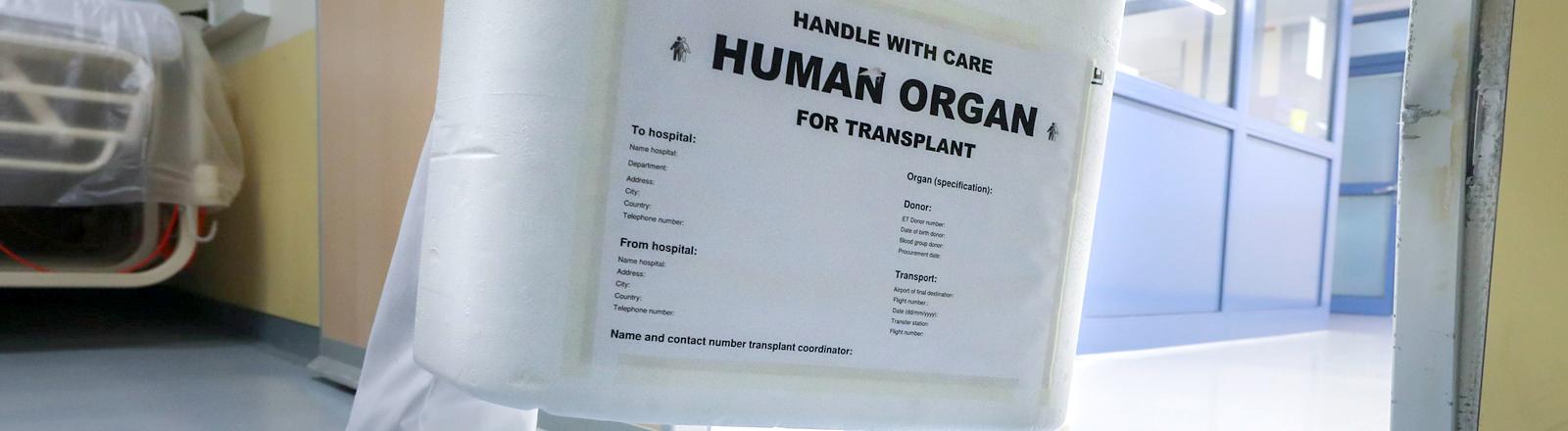 Box für Organspende