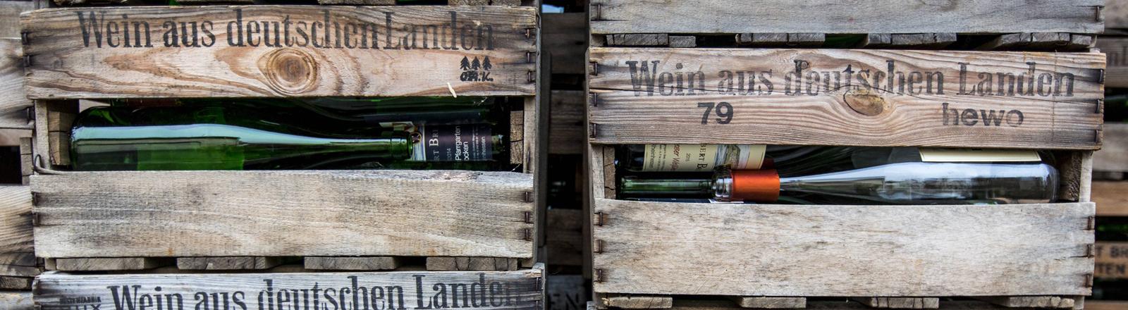 Wein in Kisten