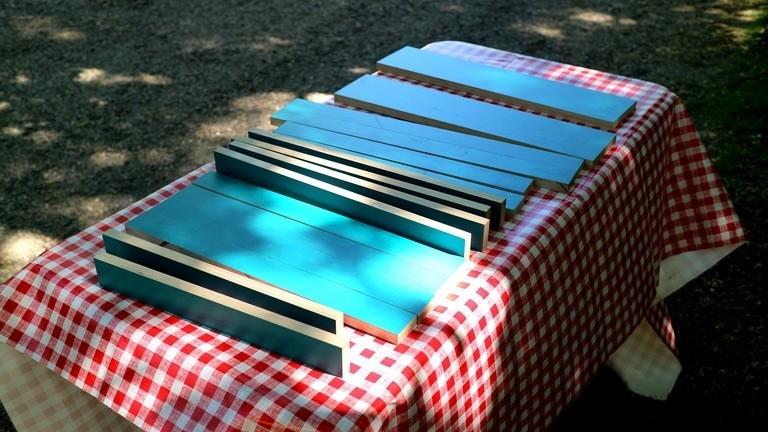 Zugeschnittene Multiplexplatte für ein Sessel-Bastelprojekt