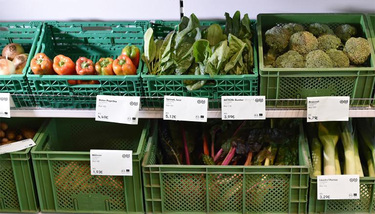 Gemüse im Biosupermarkt