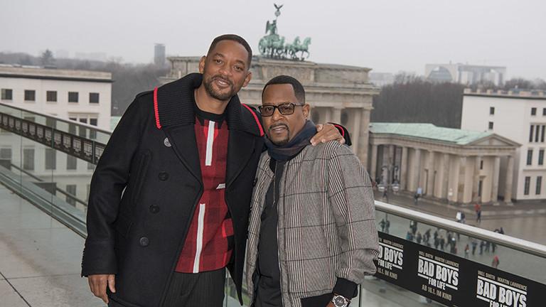 """Die Schauspieler Will Smith (l) und Martin Lawrence (r) in Berlin zur Premiere von """"Bad Boys for Life"""" 07.01.2020."""