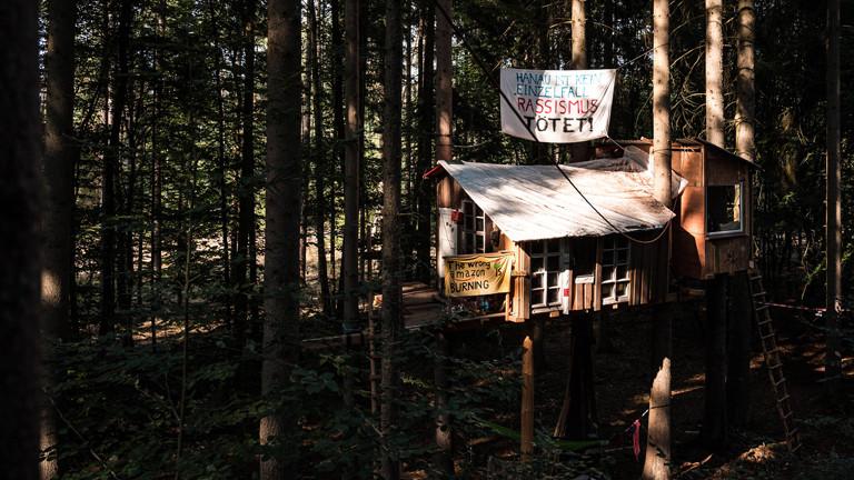 Baumhaus im besetzten Dannenröder Wald.
