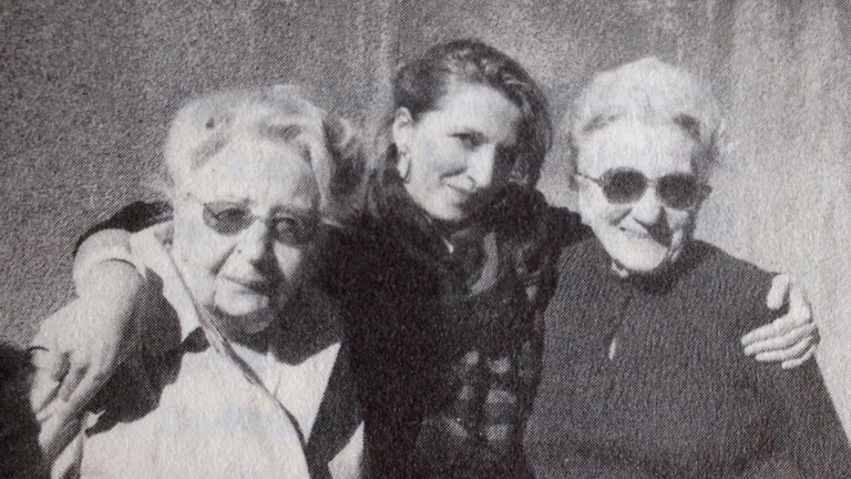 Pascal Hugues mit den Großmüttern Marthe und Mathilde