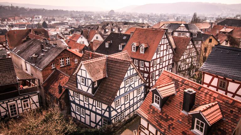 Blick über die Dächer von Marburg
