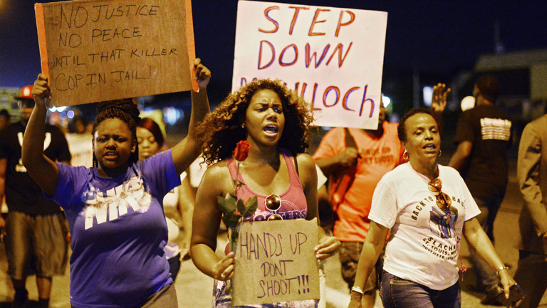 Proteste in Ferguson nach dem Tod von Michael Brown.
