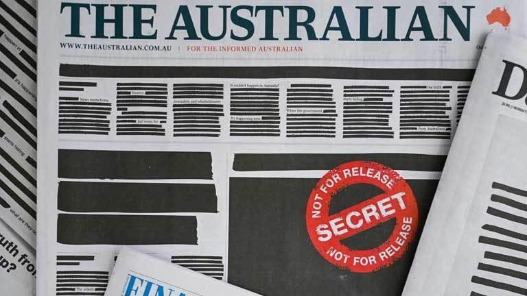 Geschwärzte Titelseiten aus Protest gegen Regierung