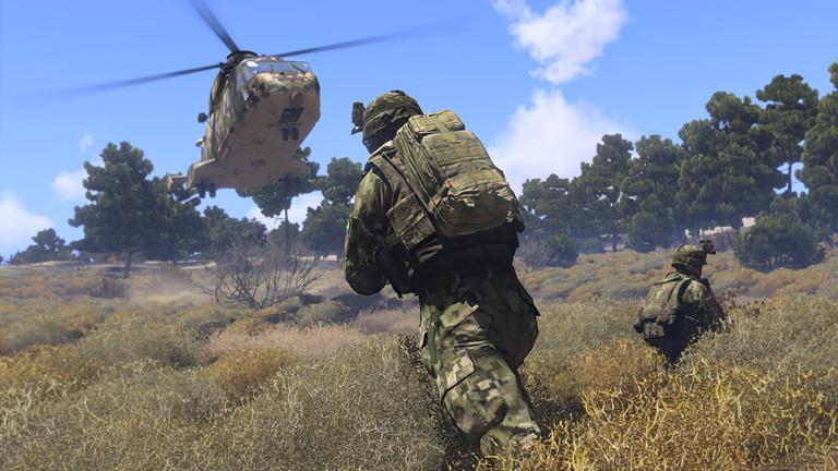 Eine Szene aus dem Computerspiel Arma 3.
