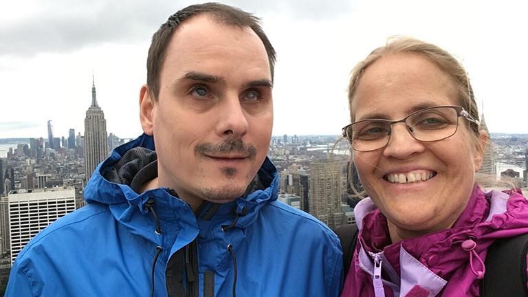 Marcel und Raphaela Franke in New York