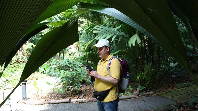 Marcel Franke in Gardens by the Bay in Singapur