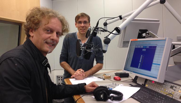 Adnan Hodzic mit Sven Preger im Studio