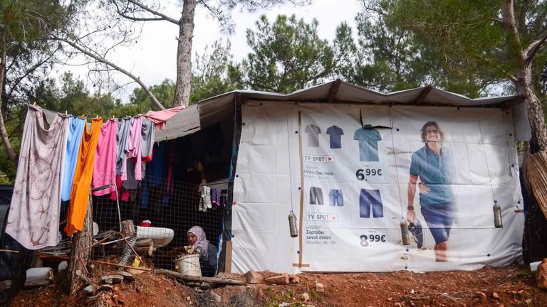 Hütte im Flüchtingscamp auf Samos