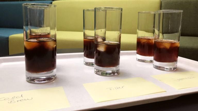 Drei verschiedene Sorten kalter Kaffee