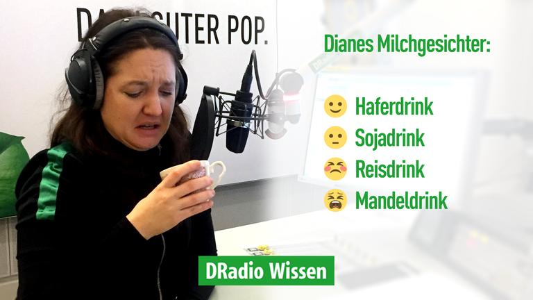Moderatorin Diane Hielscher testet Alternativen zur Kuhmilch im Kaffee.