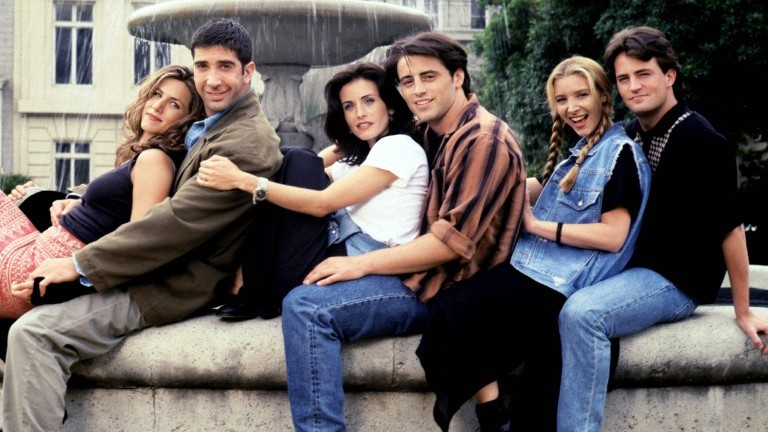 "Der Cast der Serie ""Friends""."