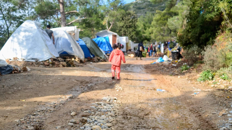 Das Camp auf Samos