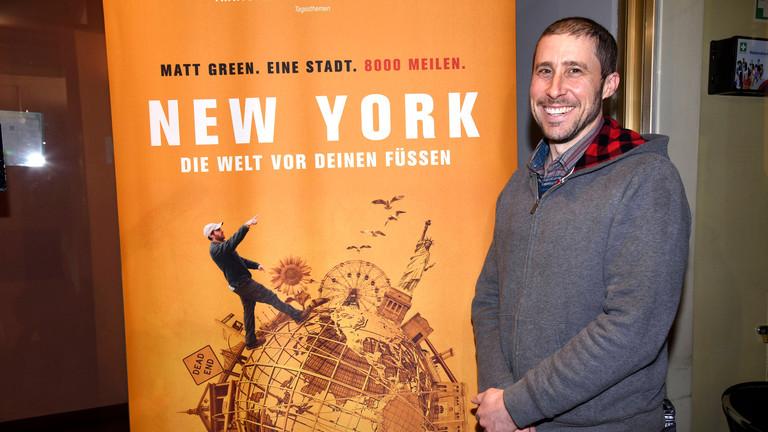 Matt Green bei der Premiere des Dokumentarfilms New York - Die Welt vor Deinen Füssen im City Kino. München,