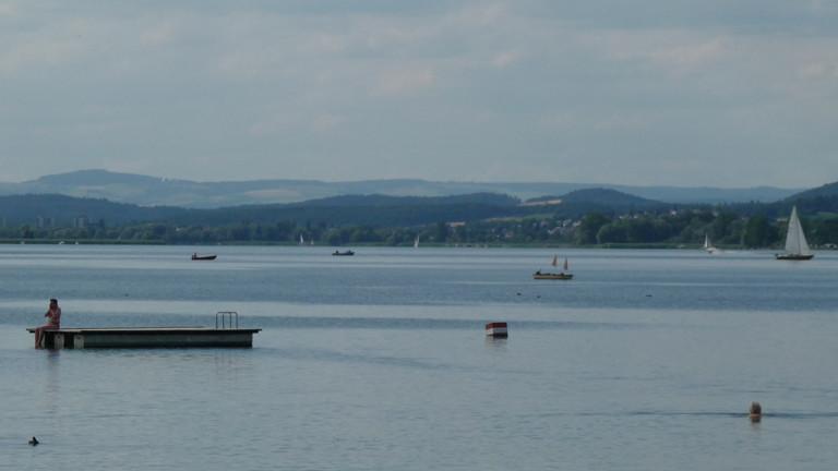 Blick über den Bodensee von der Reichenau aus.