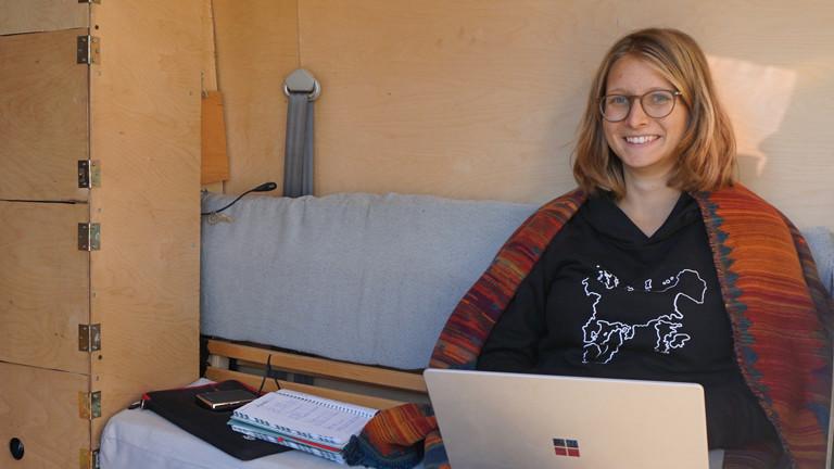 Ina Bierfreund arbeitet im WG-Bus