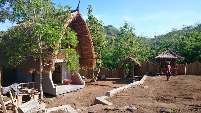 Das nächste Batu Bambu-Gästehaus ist schon im Bau.
