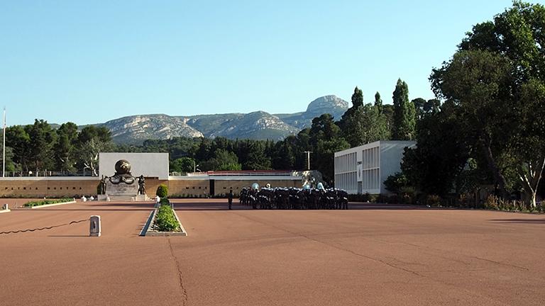 Das Hauptquartier der französischen Fremdenlegion in Aubagne