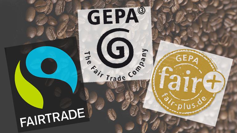 Siegel von Fairtrade und Gepa