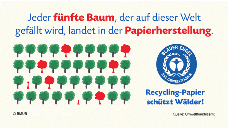 Grafik: Jeder fünfte Baum, der auf dieser Welt gefällt wird, landet in der Papierherstellung