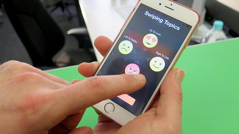 Hater App auf einem Handy