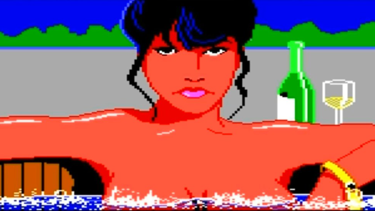 Screenshot der alten Leisure Suit Larry-Gamereihe