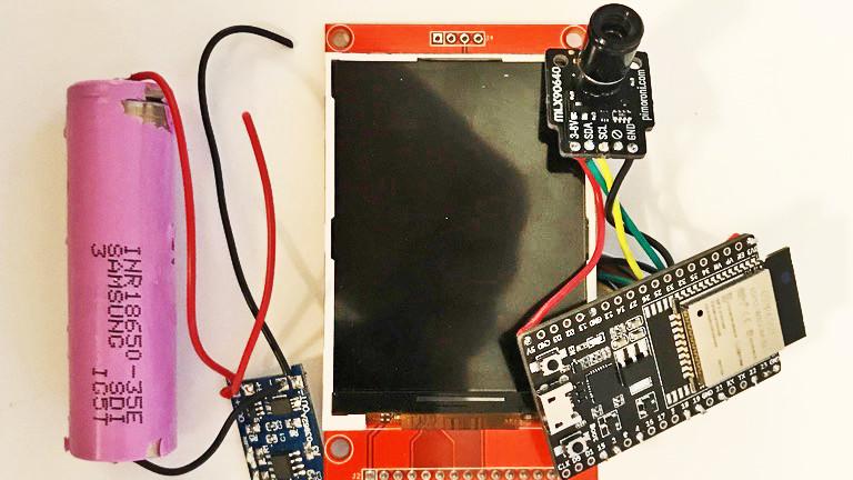 Bauteile für eine Selbstbau-Wärmebildkamera