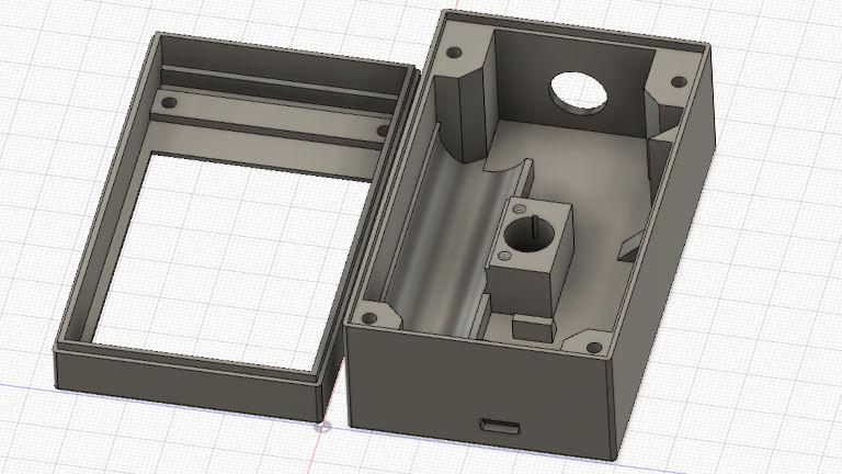 Digitaler Entwurf für ein Wärmebildkamera-Gehäuse