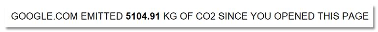 Screenshot der Seite janavirgin.com/CO2/ zehn Sekunden nach Öffnen der Seite