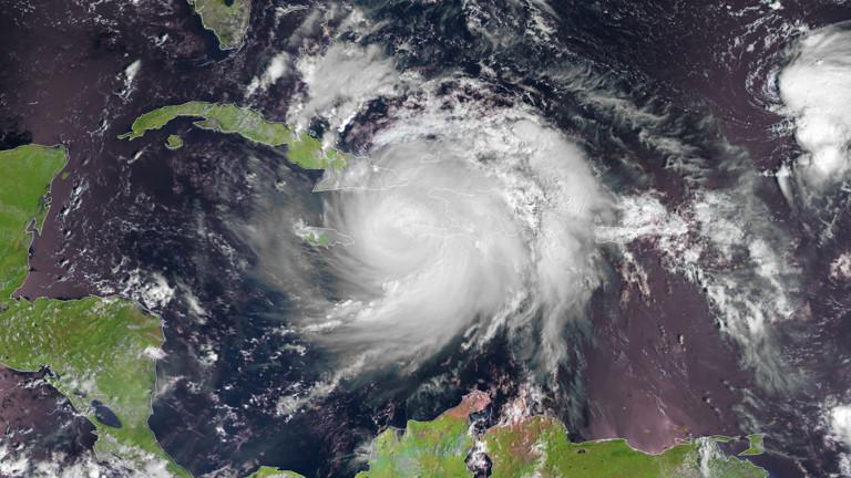 Satellitenbild vom Hurrikan Matthew vom 4.10.2016