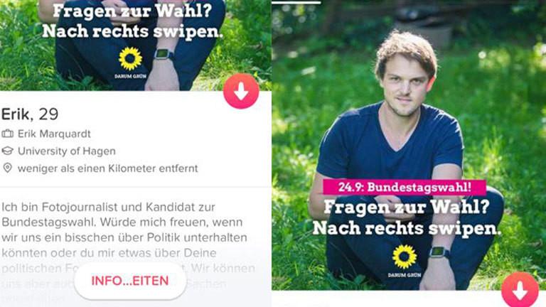 Das Tinder-Profil von Erik Marquardt