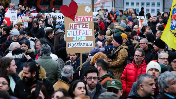 Demonstration Hanau, 22.2.2020 zum Gedenken der Opfer