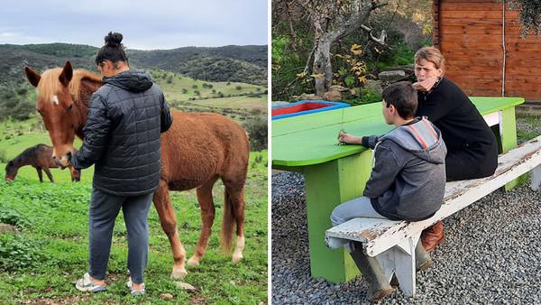 Verhaltensauffällige Jugendliche, die in Portugal betreut werden.