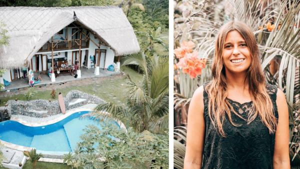 Das Gästehaus Batu Bambu im indonesischen Lombok und ein Portrait der Besitzerin, Elisa Bracht.