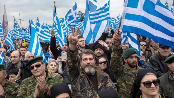 Demonstration von Griechen am 22.01.2018 gegen den Namen des Landes Mazedonien