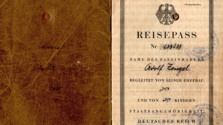 Ein alter Reisepass aus dem Deutschen Reich.