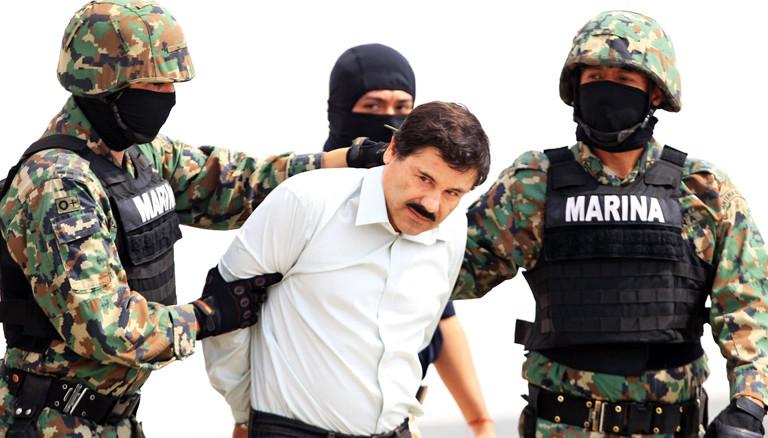 Foto von Drogenboss Joaquin Guzman bei seiner Verhaftung im Jahr 2014.