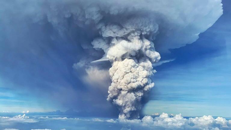 Der Vulkan Taal ist ausgebrochen, Bild vom 12.01.2020.