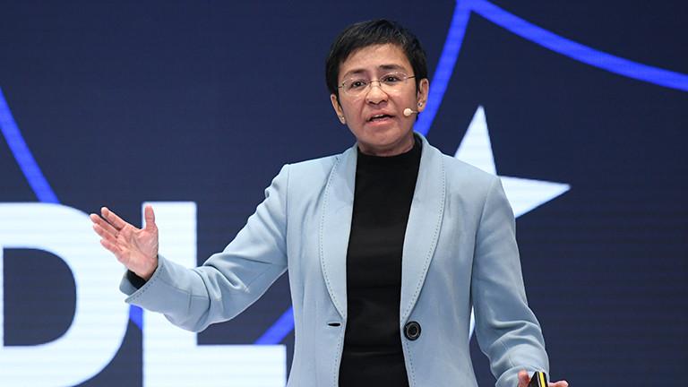 Maria Ressa, philippinische Journalistin und Autorin, spricht bei der Innovationskonferenz DLD am 18.01.2020.
