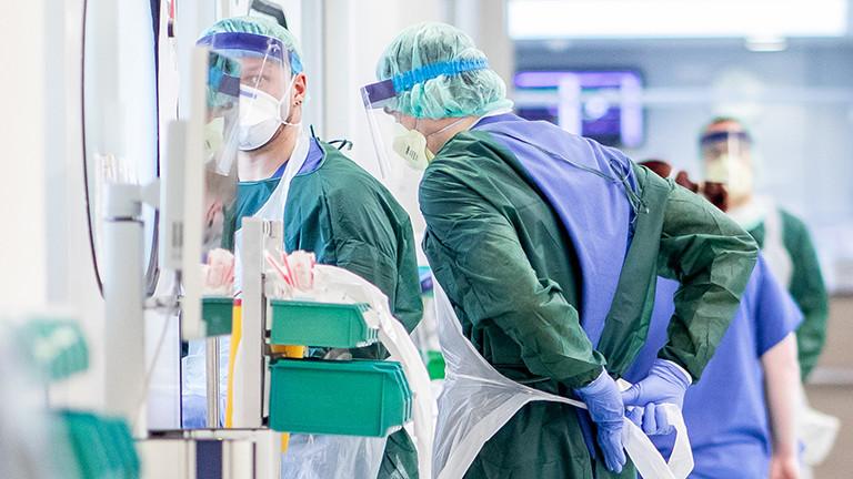 Pfleger in der Uniklinik Essen 01.04.20