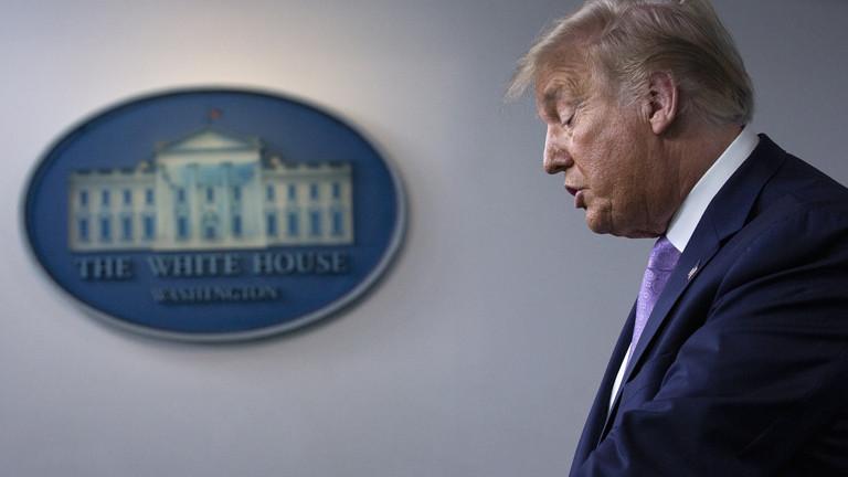 Donald Trump bei einer Pressekonferenz am 05.08.2020.