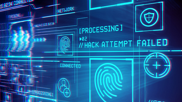 """Ein Bildschirm zeigt an: """"Hack Attempt Failed""""."""
