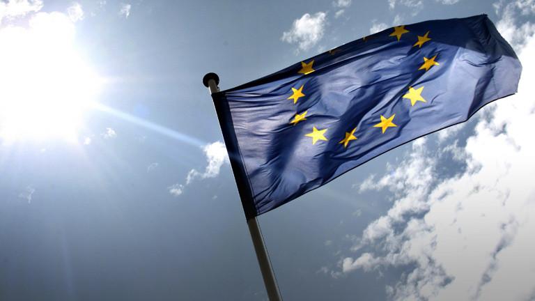 Die Europaflagge.