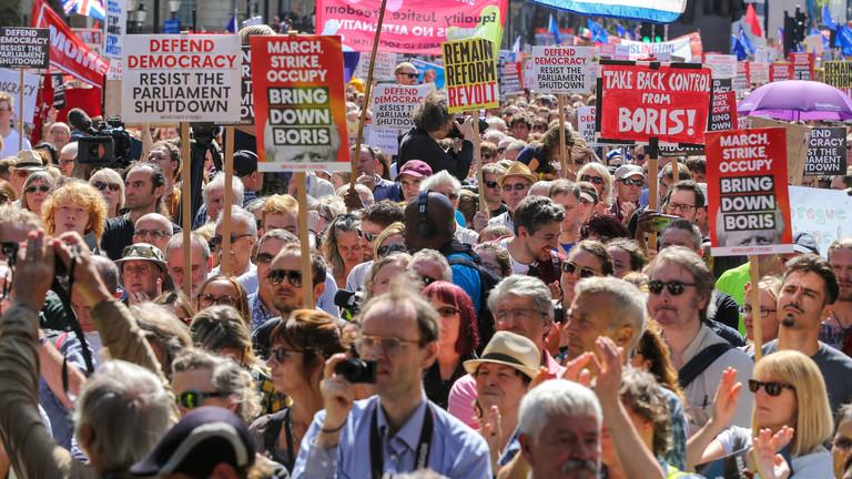 Demo gegen Brexit in London.