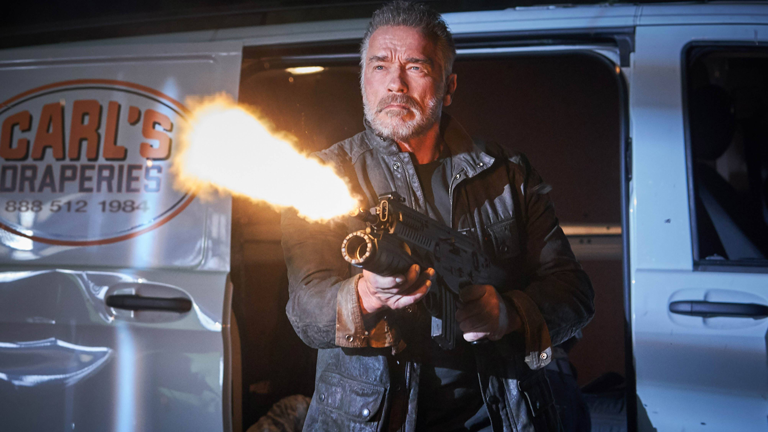 "Szene aus ""Terminator: Dark Fate"" mit Arnold Schwarzenegger"